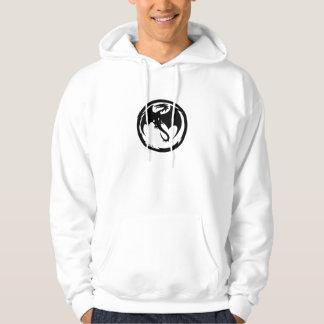 Black Dragon white hoodie