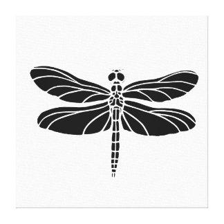Black Dragonfly Canvas Print