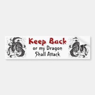 Black Dragons Bumper Sticker