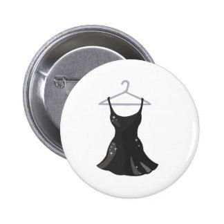 Black Dress 6 Cm Round Badge