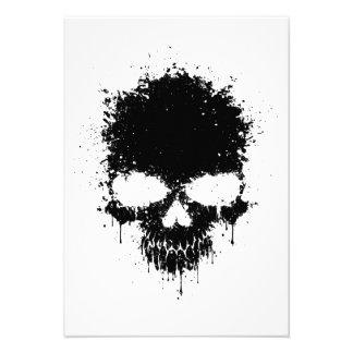 Black Dripping Splatter Skull Announcement