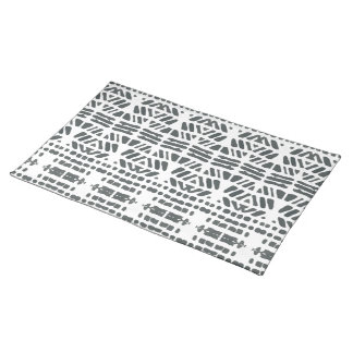 Black drops pattern placemats