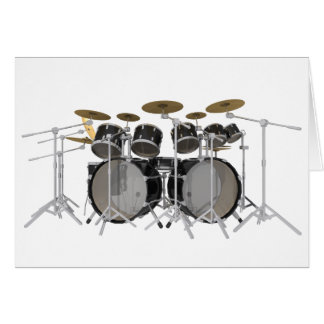 Black Drum Kit: 10 Piece: Card