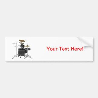 Black Drum Kit Bumper Sticker