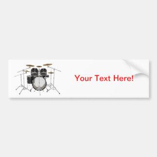 Black Drum Kit Bumper Stickers