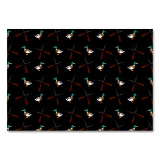 Black duck hunting pattern table card