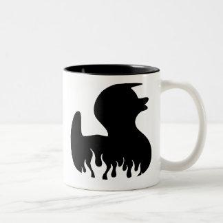 black duck Two-Tone coffee mug