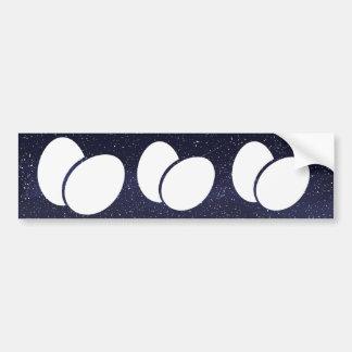 Black Eggs Minimal Bumper Sticker