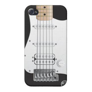 Black Electric Guitar iPhone 4 Case