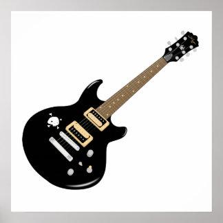 Black Electric Guitar Posters