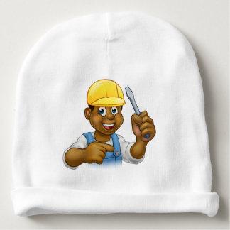 Black Electrician Handyman With Screwdriver Baby Beanie
