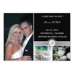 "Black Elegance - Save the Date card. 5"" X 7"" Invitation Card"