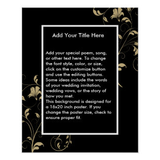 Black Elegance Wedding Poster