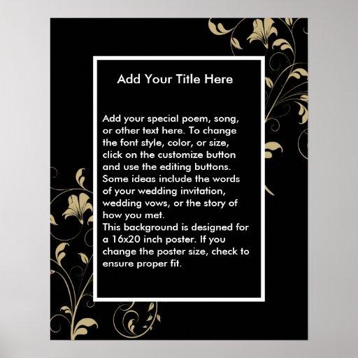 Black Elegance Wedding Poster