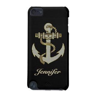 Black, Elegant Diamonds & Gold  Nautical Anchor iPod Touch 5G Case