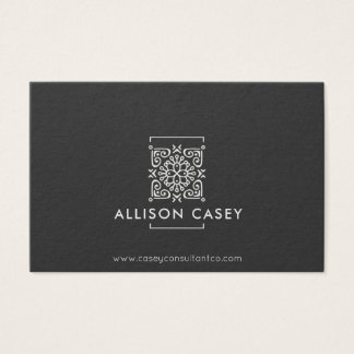 black elegant professional business card