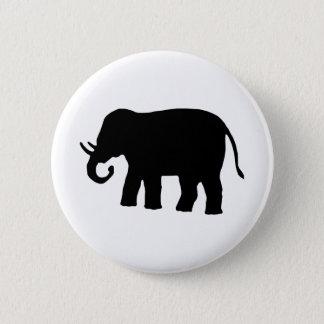 Black Elephant 6 Cm Round Badge