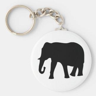 black elephant icon key chains