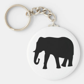 black elephant icon key ring