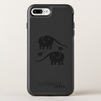 Black Elephants On Black Leather OtterBox Symmetry iPhone 8 Plus/7 Plus Case