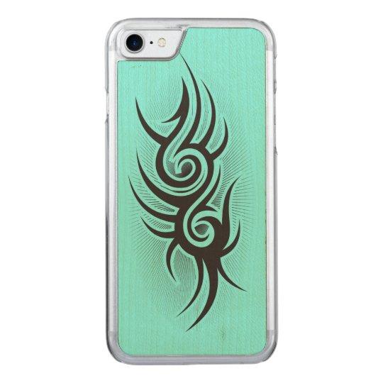 Black Emblem Carved iPhone 8/7 Case
