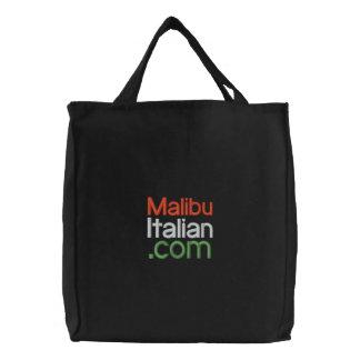 Black Embroidered Malibuitalian com Embroidered Bags