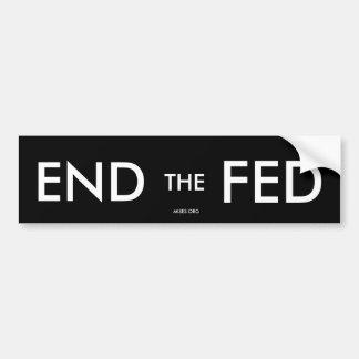 Black END the FED Bumper Sticker