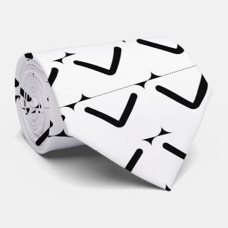 Black Envelopes Pictogram Tie