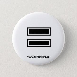 Black Equal 6 Cm Round Badge