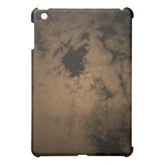 Black Erosion Texture - Orange Sepia iPad Mini Cover