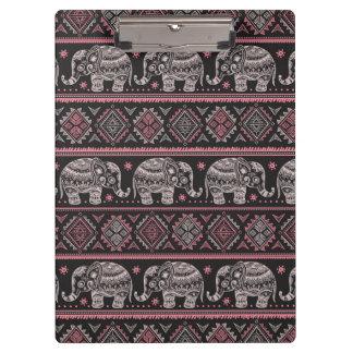 Black Ethnic Elephant Pattern Clipboard
