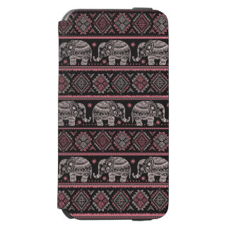 Black Ethnic Elephant Pattern Incipio Watson™ iPhone 6 Wallet Case