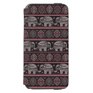 Black Ethnic Elephant Pattern Incipio Watson™ iPhone 6 Wallet Case