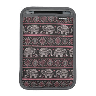 Black Ethnic Elephant Pattern iPad Mini Sleeve