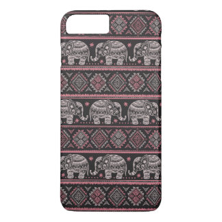 Black Ethnic Elephant Pattern iPhone 8 Plus/7 Plus Case