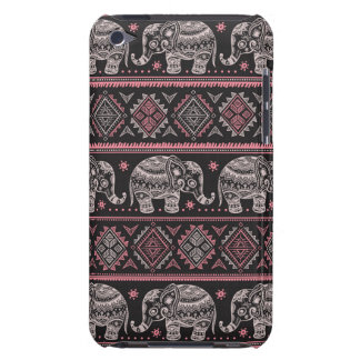 Black Ethnic Elephant Pattern iPod Touch Case-Mate Case