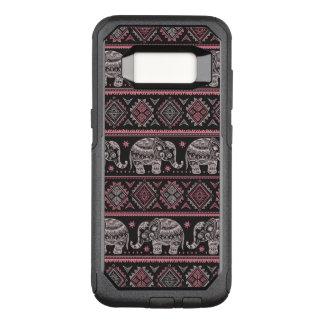 Black Ethnic Elephant Pattern OtterBox Commuter Samsung Galaxy S8 Case