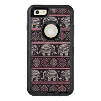 Black Ethnic Elephant Pattern OtterBox Defender iPhone Case