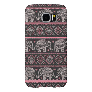 Black Ethnic Elephant Pattern Samsung Galaxy S6 Cases