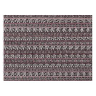 Black Ethnic Elephant Pattern Tablecloth