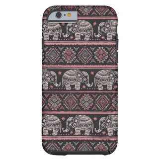 Black Ethnic Elephant Pattern Tough iPhone 6 Case