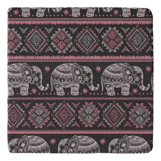 Black Ethnic Elephant Pattern Trivet