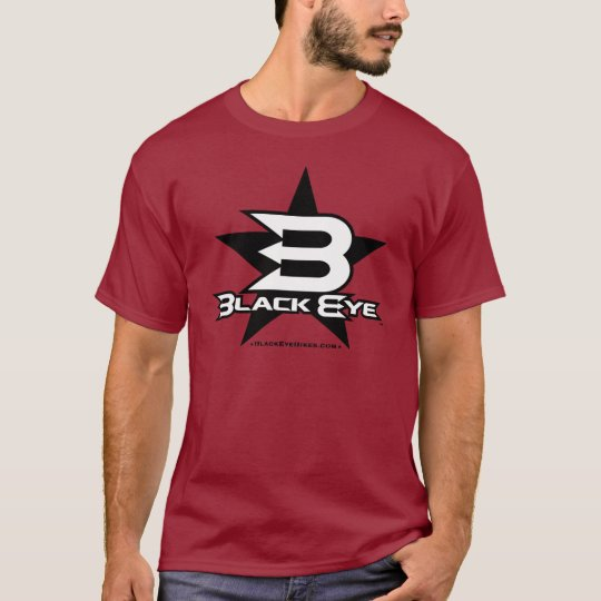 Black Eye Bikes Star - Black / White T-Shirt