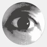 black eye round sticker