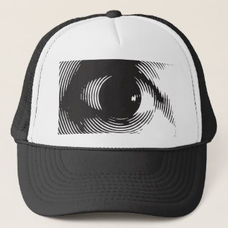 black eye trucker hat