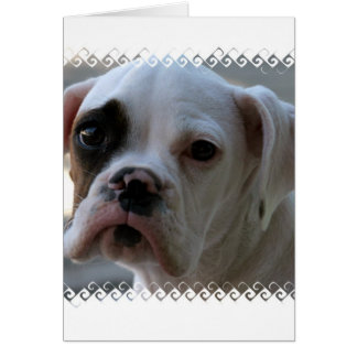 Black Eyed Boxer Dog Greeting Card