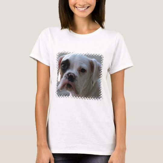 Black Eyed Boxer Dog Ladies T-Shirt