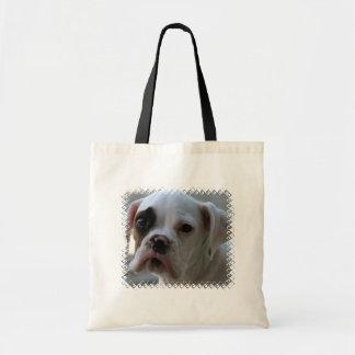 Black Eyed Boxer Dog Tote Bag