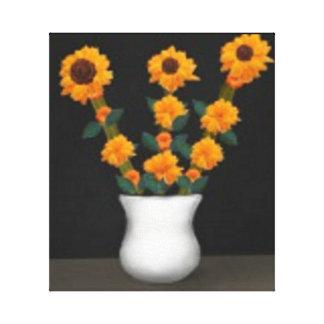Black Eyed Sunflower Design Canvas Print