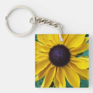 Black Eyed Susan Beauty Single-Sided Square Acrylic Key Ring